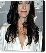 Courteney Cox Arquette At Arrivals Canvas Print