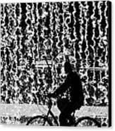 Cycling Silhouette Canvas Print by Carlos Caetano