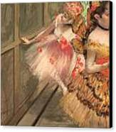 Dancers In The Wings Canvas Print by Edgar Degas