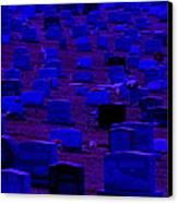 Dark Cemetery Canvas Print by Jose Lopez