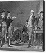Death Warrant Of Major John Andre, 1780 Canvas Print by Photo Researchers
