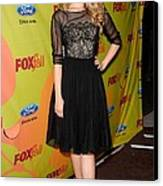 Dianna Agron At Arrivals For Fox Fall Canvas Print by Everett