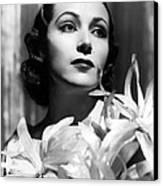 Dolores Del Rio, Portrait Ca. 1934 Canvas Print