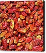 Dried Chili Peppers Canvas Print by Carlos Caetano