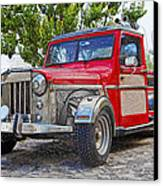 Dusty Pick-up Hot Rod Canvas Print
