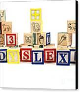 Dyslexia Canvas Print