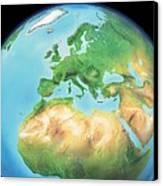 Earth, Artwork Canvas Print by Gary Hincks