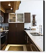 Efficiency Apartment Kitchen Canvas Print by Ben Sandall