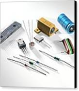 Electronic Components Canvas Print by Tek Image