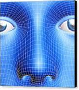 Face Biometrics Canvas Print by Pasieka