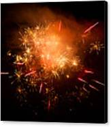 Firework Display At New Year's Eve Canvas Print