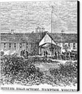Freedmens School, 1868 Canvas Print