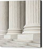 Front Steps And Columns Of The Supreme Court Canvas Print by Roberto Westbrook