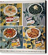 Frozen Food Ad, 1957 Canvas Print