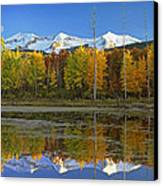 Full Moon Over East Beckwith Mountain Canvas Print