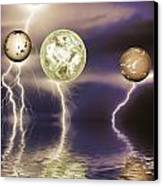 Galactic Storm Canvas Print by Sharon Lisa Clarke