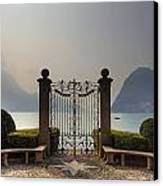 Gateway To The Lake Of Lugano Canvas Print
