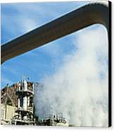 Geothermal Power Plant Canvas Print