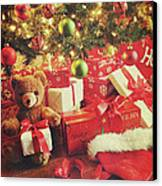 Gifts Under The Tree For Christmas Canvas Print