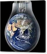 Global Warming, Conceptual Image Canvas Print by Victor De Schwanberg