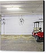 Golf Cart Parking Garage Canvas Print by Skip Nall