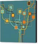 Graphic Tree Pattern Canvas Print by Setsiri Silapasuwanchai