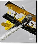 Grumman Ag 164 Wingwalker Canvas Print by Conny Sjostrom