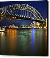 Harbour Lights Canvas Print by Renee Doyle
