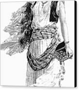 Harem Woman. 19th Century Canvas Print