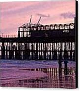 Hastings Pier After The Fire Canvas Print by Dawn OConnor