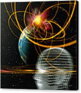 Head In Space Canvas Print by Mehau Kulyk