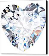 Heart Diamond  Canvas Print