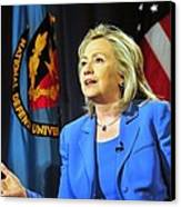Hillary Clinton, Us Secretary Of State Canvas Print by Everett