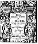 Homer Title Page, 1616 Canvas Print by Granger