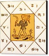 Horoscope Types, Engel, 1488 Canvas Print