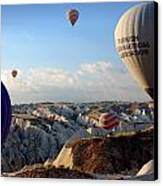 Hot Air Balloons Over Cappadocia Canvas Print