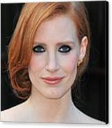 Jessica Chastain At Arrivals For The Canvas Print by Everett
