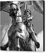 Joan Of Arc Statue French Quarter New Orleans Black And White Canvas Print