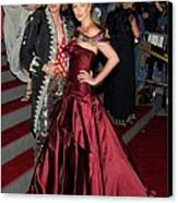 John Galliano, Charlize Theron Wearing Canvas Print by Everett