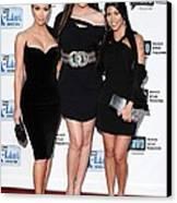 Kim Kardashian, Khloe Kardashian Canvas Print by Everett