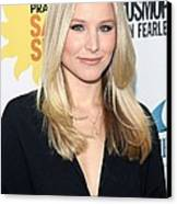 Kristen Bell At Arrivals For Cosmos Canvas Print