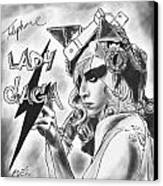 Lady Gaga Telephone Drawing Canvas Print