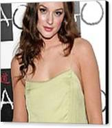 Leighton Meester In Attendance Canvas Print by Everett
