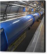 Lhc Tunnel, Cern Canvas Print by David Parker