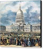 Lincoln Inauguration, 1865 Canvas Print