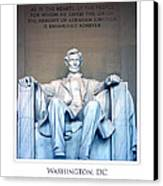 Lincoln Memorial Canvas Print by Jim McDonald Photography