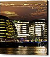 London City Hall At Night Canvas Print