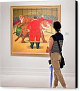 Looking At Art Canvas Print by Salvator Barki