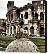 love locks in Rome Canvas Print