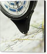 Map Wheel Canvas Print by Steve Horrell